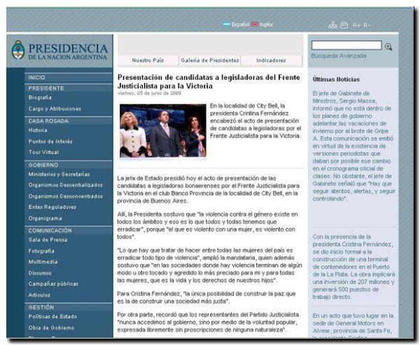 pagina-presidencial