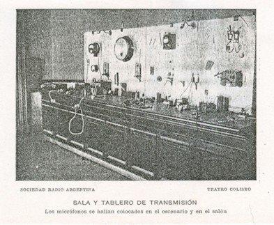 radio argentina - Sala y tablero de transmision