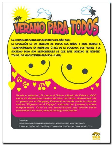afiche1 Verano para Todos